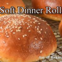 Soft dinner rolls recipe demonstration